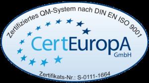 Zertifizierung CertEuropa